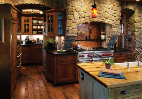 Rustic Kitchen With Rich Accents - Rustic - Kitchen ...
