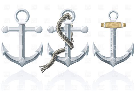 Rusty Anchors with rope Royalty Free Vector Clip Art Image ...