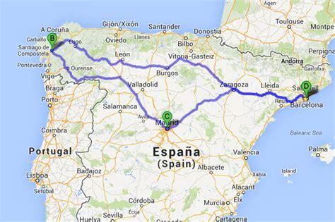Ruta Santiago de Compostela   Madrid   Zaragoza   Barcelona