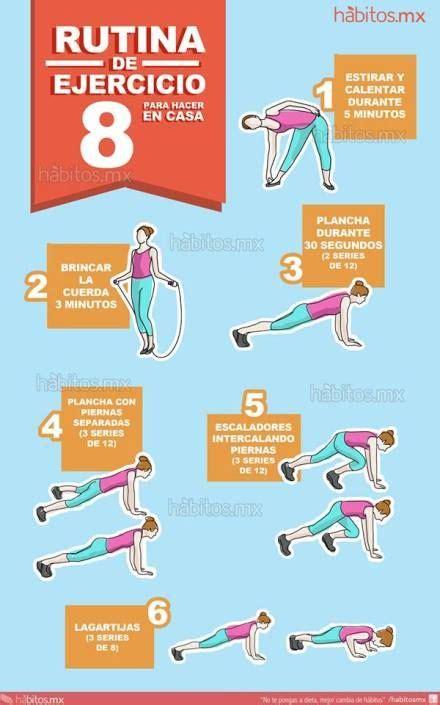 Rutina de ejercicio (para hacer en casa) | Health-Fitness ...