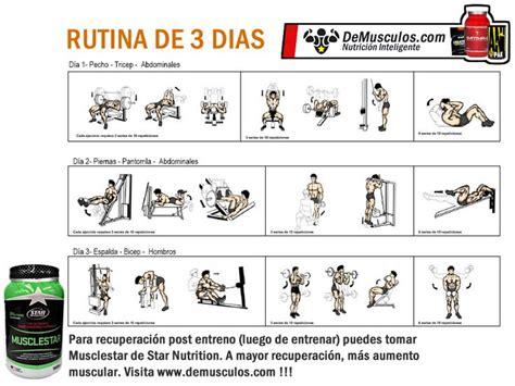 Rutina para gimnasio 3 dias – Dietas de nutricion y alimentos
