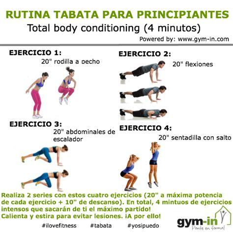 Rutina TABATA para bajar de peso en menos tiempo | Gym In