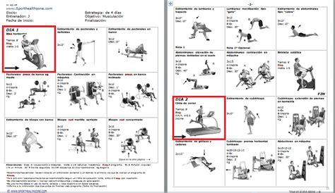 Rutinas de ejercicios, entrenamiento, fitness, pesas ...