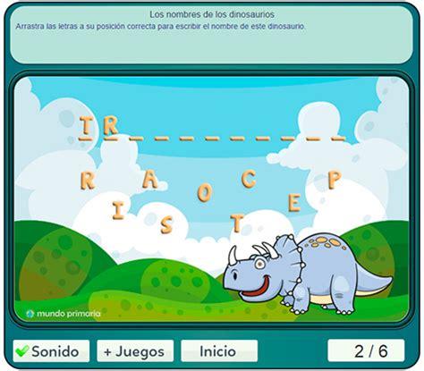 ¿Sabes hacer este juego con el nombre de los dinosaurios?