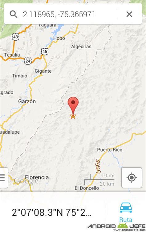 Sacar, saber, obtener coordenadas Google Maps • Android Jefe