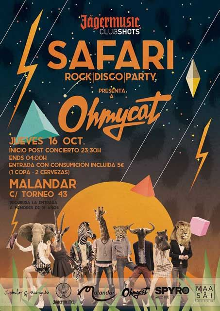 Safari Rock Disco Party en Malandar Sevilla | OnSevilla