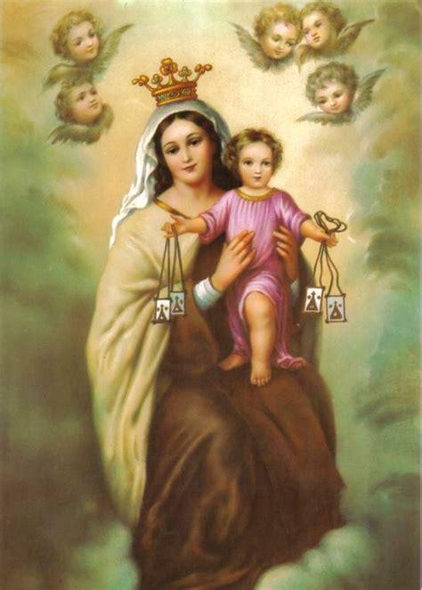 SAGRADOS CORAZONES JESUS Y MARIA: VIRGEN DEL CARMEN