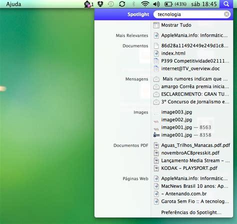 Saiba como usar o Spotlight, seu maior aliado no Mac OS X ...