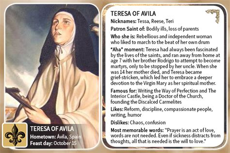 Saint All Stars: Teresa of Avila   Busted Halo