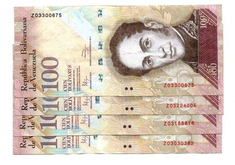 Saldrán de circulación los billetes de 100 bolívares en ...