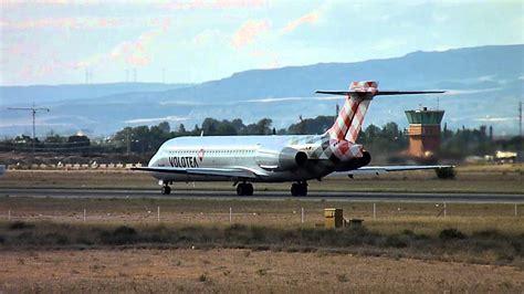 Salida del Boeing 717 de Volotea desde Zaragoza   Take Off ...