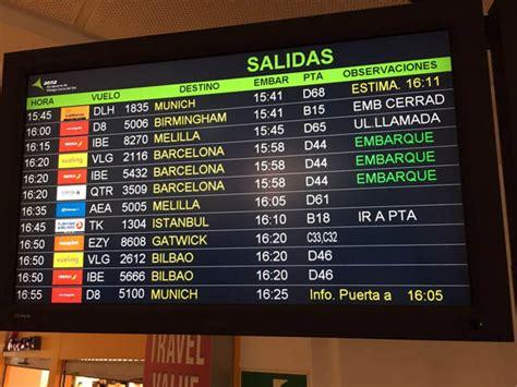 Salidas aeropuerto de Málaga AGP   Costa del Sol