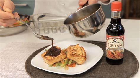 Salmón marinado con salsa de soja teriyaki   Ingredientes