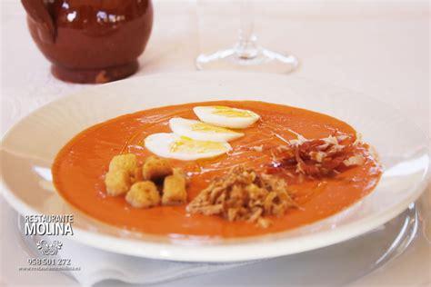 Salmorejo  temporada    Restaurante Molina en Huétor Vega