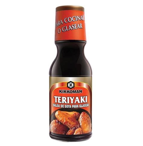 Salsa de Soya Teriyaki Kikkoman Botella Vidrio 340 ml ...