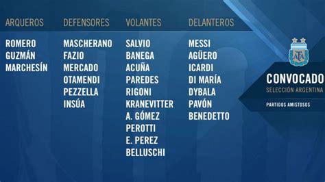Sampaoli completó la lista para jugar ante Rusia y Nigeria ...