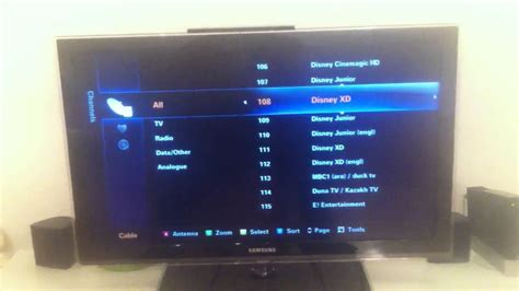 Samsung Series 6 TV - how to move a channel - change ...