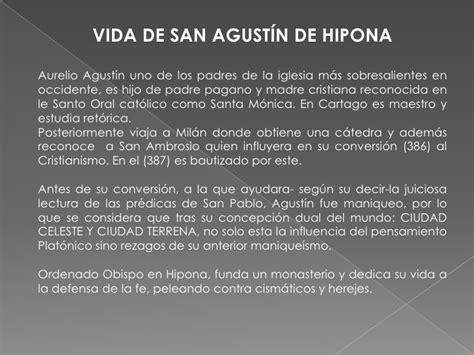 San agustin de hipona. historia de las ideas politicas