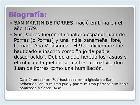San Martín de Porres Un ejemplo encarnado de aquella ...