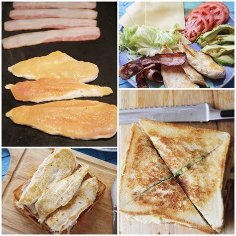 Sándwich Club de pollo, receta paso a paso
