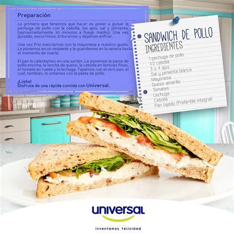 Sandwich de pollo Rico, fácil y rápido de preparar ...