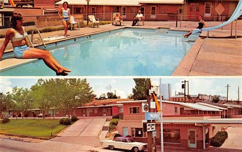 Santa Rosa New Mexico Tower Motel Swimming Pool Vintage ...
