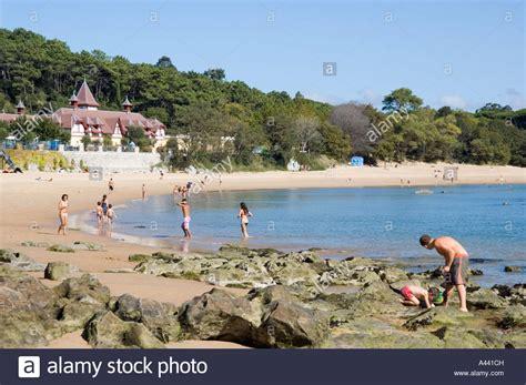 Santander beach PLAYA DE LA MAGDALENA in northern Spain ...