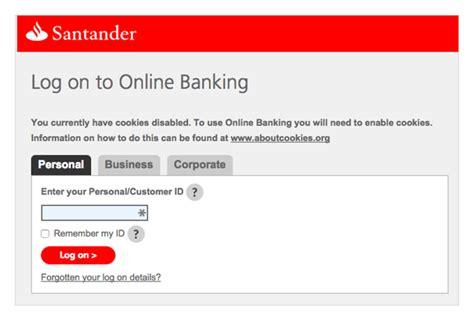 Santander Credit Card Online Banking Login | Infocard.co