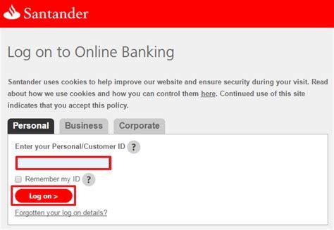 Santander UK Internet Online Banking Sign In/Login ...
