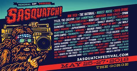 SASQUATCH! Music Festival 2018 Lineup Features Bon Iver ...
