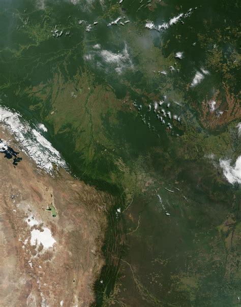 Satellite Image, Photo of Bolivia, South America
