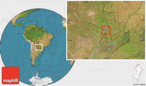 Satellite Location Map of Rio Paraguay