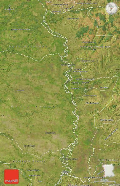 Satellite Map of Rio Paraguay