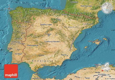 Satellite Map of Spain