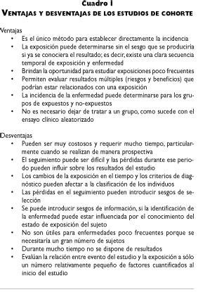 Saúde Pública - Estudios de cohorte. Metodología, sesgos y ...
