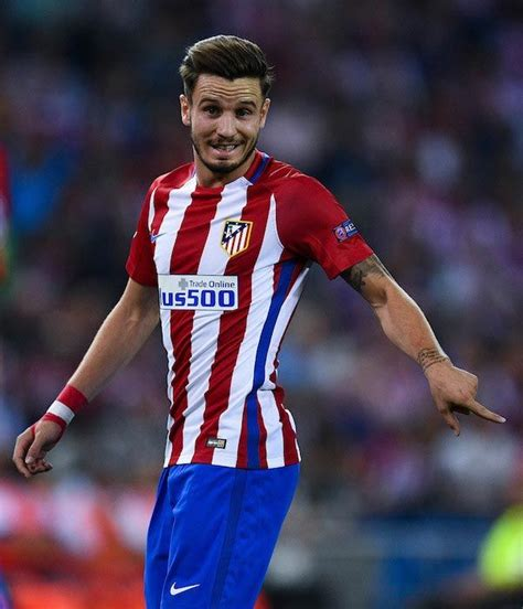 Saul Niguez during a match between Atlético Madrid and FC ...