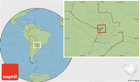 Savanna Style Location Map of Rio Paraguay