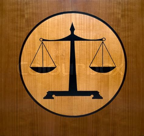 Scales   a justice symbol   Stock Photo   Colourbox