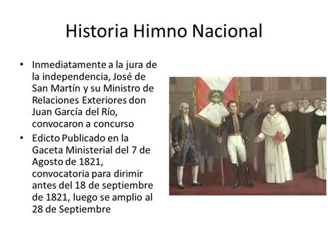 """""""Canción Nacional del Perú"""" Himno Nacional del Perú   ppt ..."""