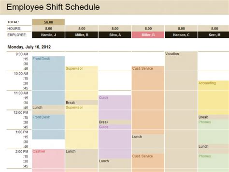 Schedule Excel Templates | Microsoft Excel Templates