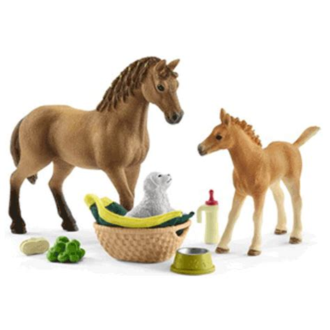 Schleich 42432 Quarter Horse Mare and Foal Care Set New ...