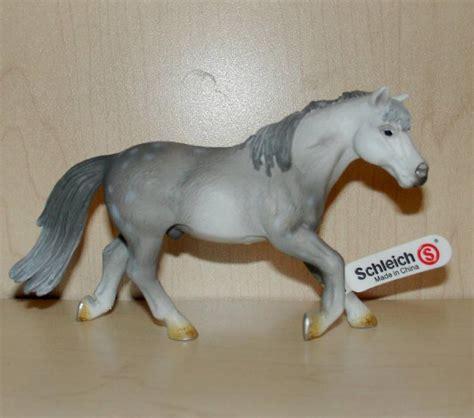 SCHLEICH Horses GREY RIDING PONY Horse RETIRED 13298 | eBay