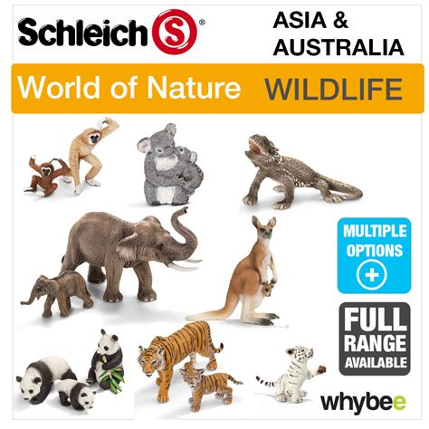 SCHLEICH WORLD OF NATURE ASIA & AUSTRALIA, ANIMAL TOYS ...