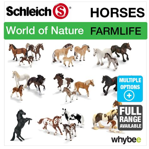 SCHLEICH WORLD OF NATURE FARM LIFE HORSES FIGURES ANIMAL ...