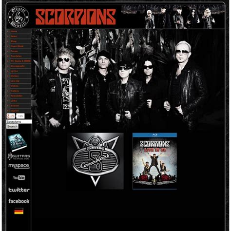 Scorpions Official Website | Pearltrees