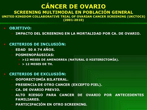 Screening del carcinoma de ovario 2011