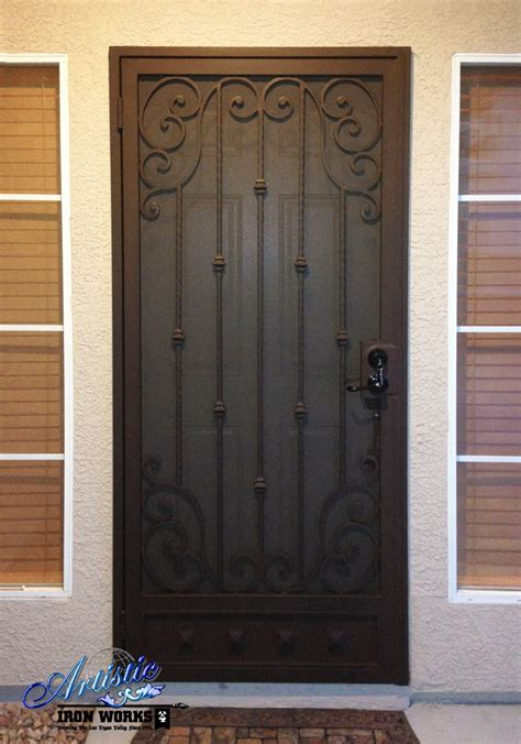 Scrolled Wrought Iron Security Door - SD0164 | Wrought ...