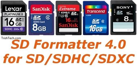 SD Formatter Can Format All Types of SD Memory Cards