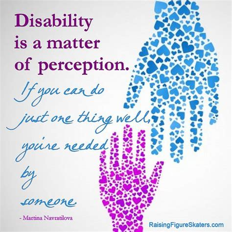 """Disability Is a Matter of Perception"" Word Art Freebie ..."