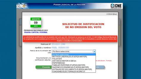 Se puede justificar el no voto por internet   Argentina ...